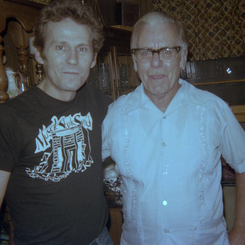 Levon Helm og Dexter Johnson. (Foto venligst udlånt af Jimmy Johnson.)